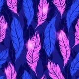 Kolorowy Abstrakcjonistyczny bezszwowy wzór z menchiami upierza symbole dalej Obraz Royalty Free