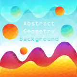 Kolorowy Abstrakcjonistyczny geometryczny kształt Obraz Royalty Free