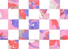 Kolorowy abstrakcjonistyczny geometryczny tło z kwadratami ilustracji