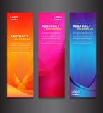 Kolorowy abstrakcjonistyczny horyzontalny sztandaru projekt Obraz Royalty Free