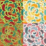 Kolorowy abstrakcjonistyczny jaskrawy bezszwowy wzór royalty ilustracja