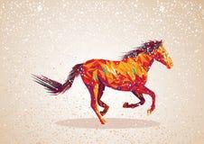 Kolorowy abstrakcjonistyczny koński kształt. Obrazy Royalty Free