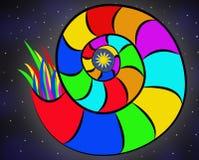 Kolorowy abstrakcjonistyczny ślimaczek Obrazy Stock