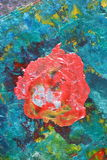 Kolorowy abstrakcjonistyczny obraz olejny Obrazy Stock