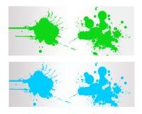 Kolorowy Abstrakcjonistyczny pluśnięcie sztandar Royalty Ilustracja