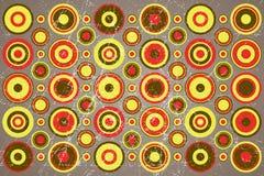 Kolorowy abstrakcjonistyczny retro wzór Zdjęcia Stock