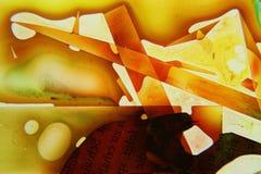 Kolorowy abstrakcjonistyczny rzadkopłynny obraz Zdjęcia Stock