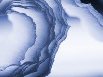 Kolorowy abstrakcjonistyczny skład z błękitnymi krepami Zdjęcia Stock