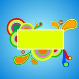 kolorowy abstrakcjonistyczny sztandar Fotografia Royalty Free