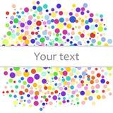 Kolorowy abstrakcjonistyczny tło kolorowe kropki, okręgi z miejscem dla twój teksta Wektorowa ilustracja dla jaskrawego projekta Obraz Stock