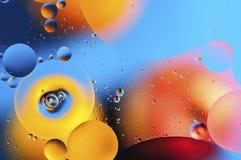 Kolorowy abstrakcjonistyczny tło na podstawie barwić piłek Zdjęcie Stock