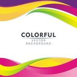 Kolorowy Abstrakcjonistyczny tło z falistym stylowym projektem ilustracja wektor