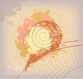 Kolorowy abstrakcjonistyczny tło z kleksami royalty ilustracja