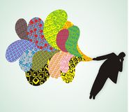 kolorowy abstrakcjonistyczny tło Fotografia Royalty Free