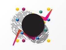 Kolorowy abstrakcjonistyczny tło, geometryczny element Obrazy Royalty Free