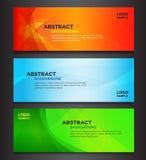 Kolorowy abstrakcjonistyczny tło sztandaru projekt Obraz Royalty Free