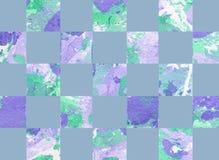Kolorowy abstrakcjonistyczny tło z kwadratami Obrazy Royalty Free