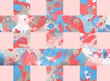 Kolorowy abstrakcjonistyczny tło z lampasami Zdjęcia Stock