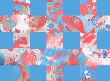 Kolorowy abstrakcjonistyczny tło z lampasami Obrazy Stock