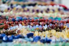 Kolorowy abstrakcjonistyczny tło z zamazanymi cennymi kamieniami Obraz Stock