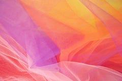Kolorowy Abstrakcjonistyczny Tiulowy tło -1 i tekstury Zdjęcie Royalty Free