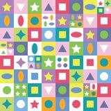 Kolorowy abstrakt kształtuje tło Obraz Stock