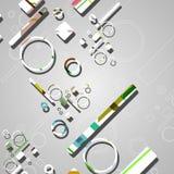 Kolorowy abstrakt okrąża tło Zdjęcie Stock