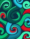 Kolorowy abstrakt wiruje tło Obrazy Royalty Free