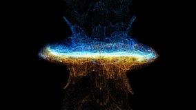 Kolorowy abstrakt wiruje zwolnione tempo karambol cząsteczka wybuch royalty ilustracja