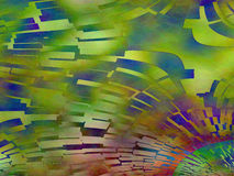 Kolorowy abstrakt zieleni błękitnej czerwieni osocza płytki obraz Obrazy Stock