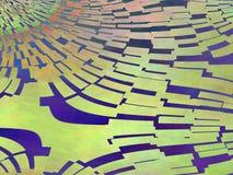 Kolorowy abstrakt zieleni osocza płytki obraz Zdjęcia Stock