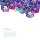 Kolorowy abstrakta wzoru tło, trójboka skład, wektorowa ilustracja z obfitości przestrzenią dla twój teksta Zdjęcie Royalty Free