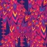 Kolorowy Afrykański kwiecisty geometryczny bezszwowy wzór Obrazy Royalty Free