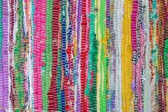Kolorowy afrykański peruvian stylu dywanika powierzchni zakończenie up Więcej th Obrazy Stock