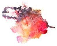 Kolorowy akwareli pluśnięcia bielu tło Zdjęcia Royalty Free
