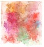 Kolorowy akwareli pluśnięcia bielu tło Fotografia Royalty Free