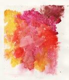 Kolorowy akwareli pluśnięcia bielu tło Obrazy Stock