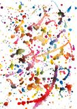 Kolorowy akwareli pluśnięcia tło, abstrakcjonistyczne akwareli plamy royalty ilustracja