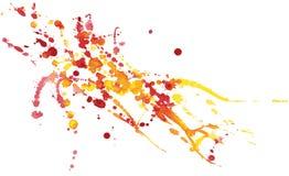 Kolorowy akwareli pluśnięcie na białym papierze również zwrócić corel ilustracji wektora Obrazy Royalty Free