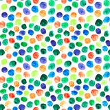 Kolorowy akwareli polki kropek wzór Obrazy Royalty Free