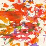 Kolorowy akwareli tło, abstrakt, tekstury akwareli papier Zdjęcia Royalty Free
