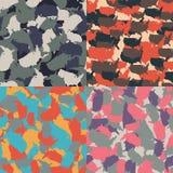 Kolorowy Ameryka miastowy kamuflaż Set usa kształta camo bezszwowy wzór Wektorowa tkaniny tkanina Militarny druku projekt Zdjęcie Royalty Free