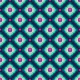 Kolorowy arabeskowy bezszwowy piękny tło wzór ilustracja wektor