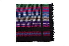 Kolorowy arabski szalik na białym tle Zdjęcie Royalty Free