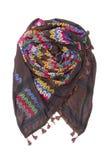 Kolorowy arabski szalik odizolowywający na białym tle Obrazy Royalty Free