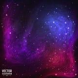 Kolorowy Astronautyczny galaktyki tło z światłem, Fotografia Royalty Free