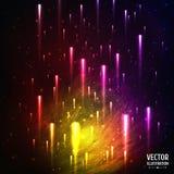 Kolorowy Astronautyczny galaktyki tło z światłem, Obrazy Royalty Free