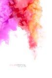 Kolorowy atrament w wodzie abstrakcjonistycznego kolor tła eksplozji fractals ilustracja textured cyfrowa struktura farby Obraz Stock