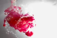Kolorowy atrament w wodzie abstrakcyjny tło Dymny kolor Zdjęcie Stock