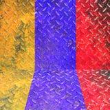 Kolorowy awaryjny metal Zdjęcia Royalty Free